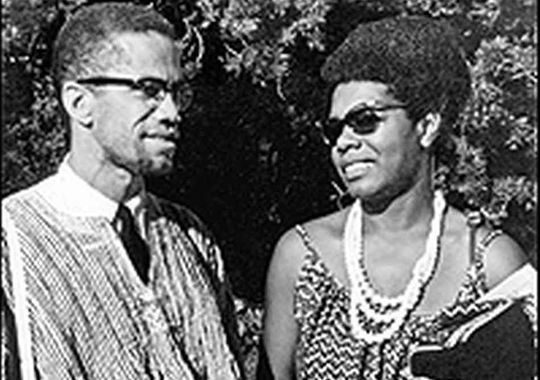 Maya Angelou with Malcolm X